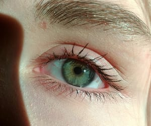 blue, face, and green eye image
