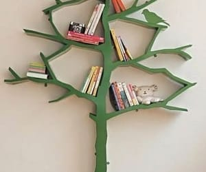 book, tree, and green image