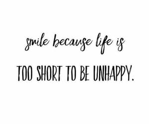 quotes, smile, and black and white image