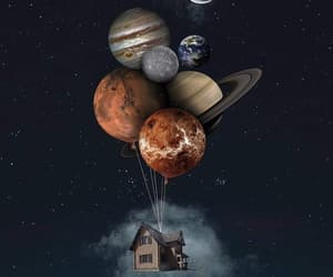 planets, night, and space image
