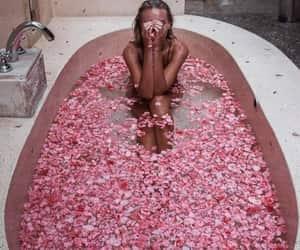 girl, flowers, and luxury image
