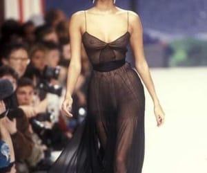 dress, fashion show, and 90's image