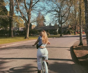 bike, town, and street image