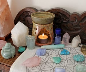 candles, crystals, and spells image