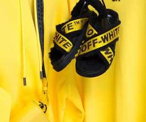 style, yellow, and offwhite image