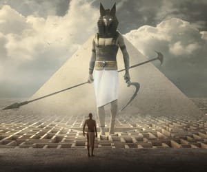 anubis, art, and spear image