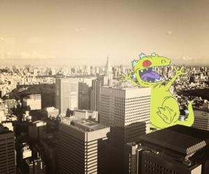 city, reptar, and rugrats image
