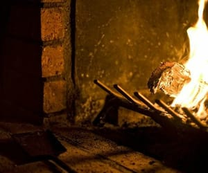 fire, fireplace, and hearth image