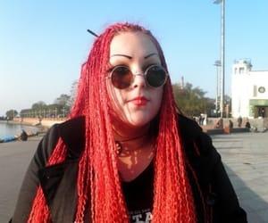 braids, goth girl, and box braids image