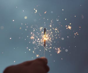 bokeh, fire, and sparklers image