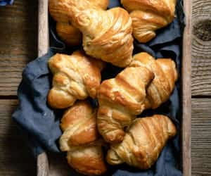 croissant, desserts, and food image