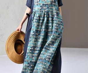 etsy, short sleeve dress, and blue long dress image