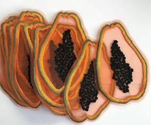 bonito, bordado, and papaya image