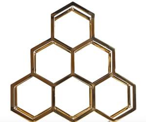 home decor, honeycomb, and modern image