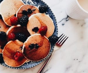 breakfast, pancakes, and mornings image