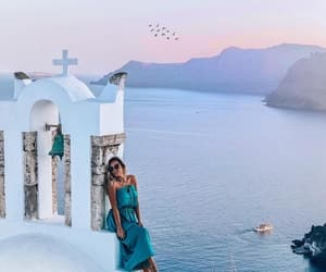 Greece, santorini, and mountain image