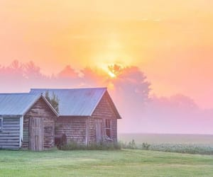 barn, landscape, and country living image