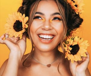 sunflower, yellow, and vlogger image