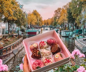 amsterdam, canals, and chocolate image