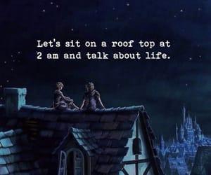 life, night, and talk image