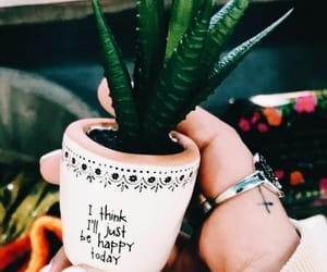 happy, motivational quote, and pot image