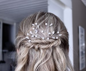 beauty, blonde, and updo image