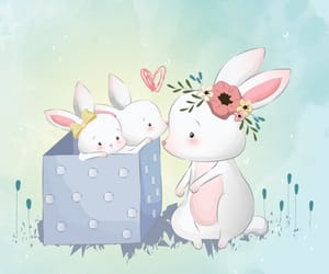 babies, cute bunny, and illustration image
