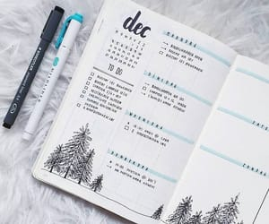 bullet journal, journal, and december image