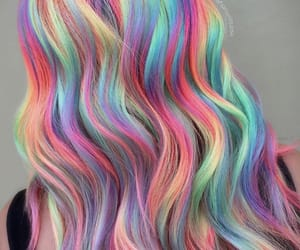 hair, holo, and rainbow image
