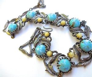 Art Nouveau, vintage necklace, and turquoise necklace image