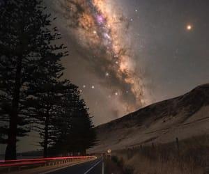 arboles, space, and estrellas image
