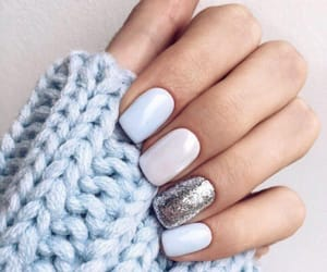 argent, blue, and nail image