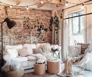 bricks, coffee table, and hammock image