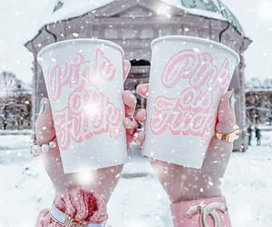 pink, winter, and tumblr image