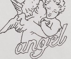 angel, drawing, and inspiration image