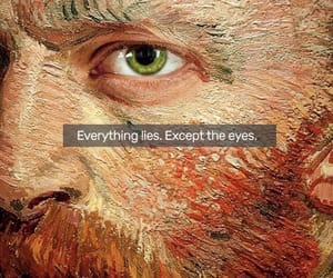van gogh, eyes, and words image