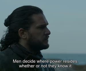 power, game of thrones, and jon snow image
