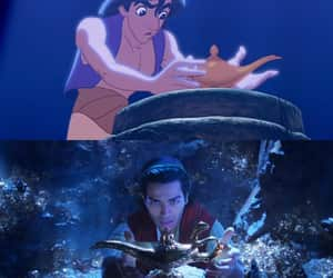 aladdin, cartoon, and childhood image