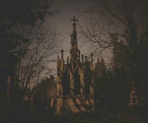 black, blue, and cemetery image