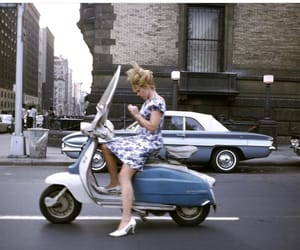 vintage, new york, and scooter image