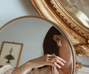 details, girl, and mirror image