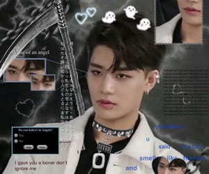 cyber goth, kpop edit, and taeil image