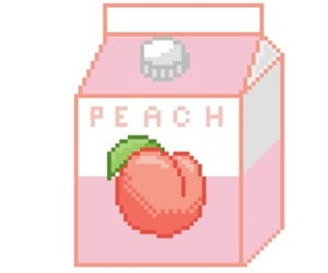 peach, pink, and milk image