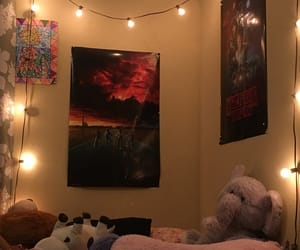 bed, lights, and pigs image