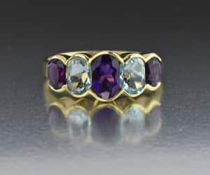 amethyst, vintage, and gold image