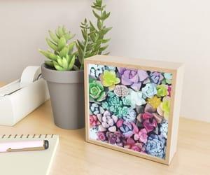 art prints, desk, and garden image