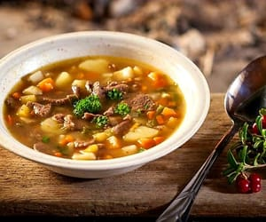 delicious, soup, and traditional image
