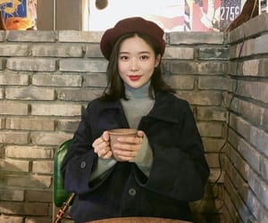 beret, cafe, and coffee image