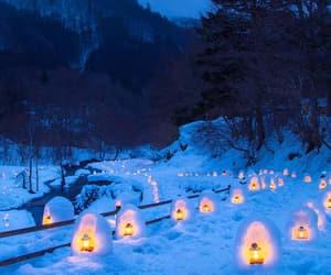 glowing, lanterns, and japan image