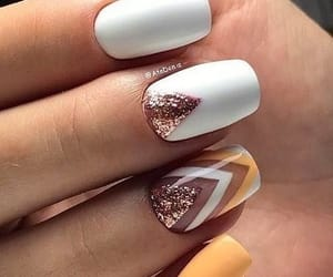 nail art, nails, and glitter image